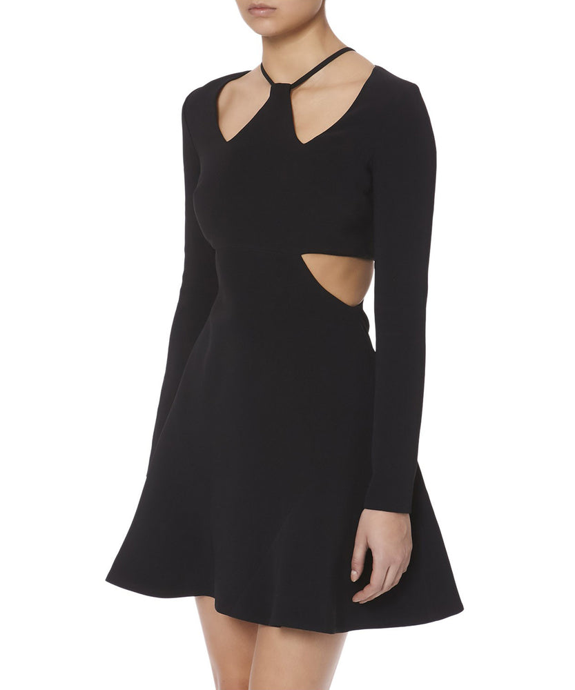 TRIANGLE CHEST AND WAIST CUTOUTS DRESS - SIDE VIEW - THE BOX BOUTIQUE