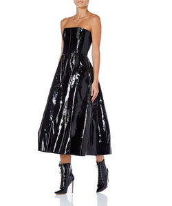 Alex Perry Tate Patent Leather Women Black Dress