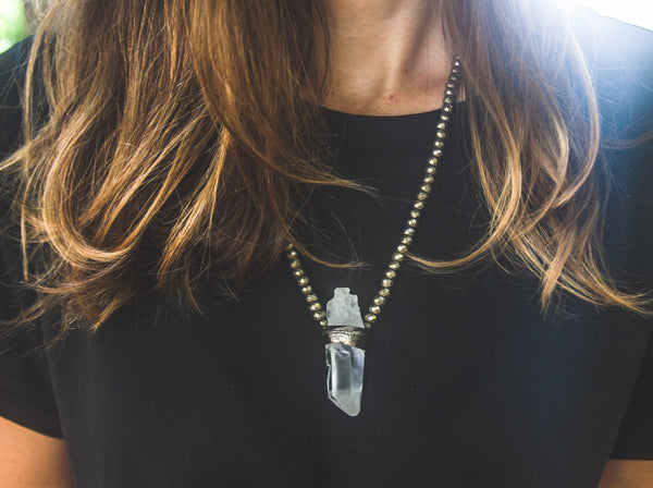 Elena Necklace Pyrite - Divine Schematic