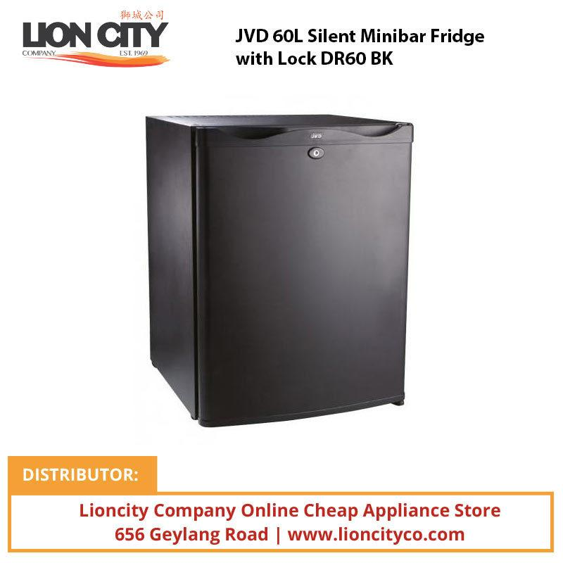 JVD 60L Silent Minibar Fridge with Lock DR60 BK**OUT OF STOCK - Lion City Company