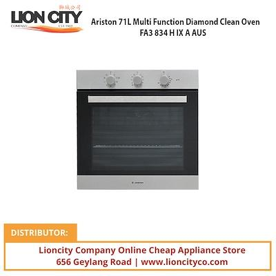 Ariston 71L Multi Function Diamond Clean Oven FA3834HIXAAUS - Lion City Company
