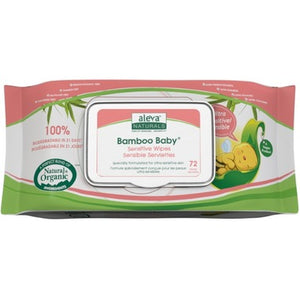 Aleva Naturals Bamboo Baby Wipes Sensitive