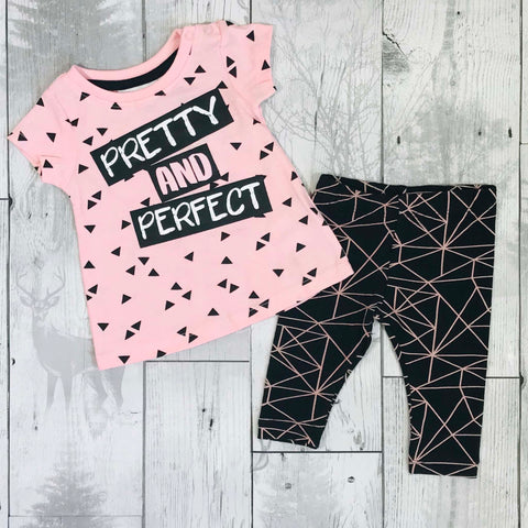 Baby Girls Two Piece, Dress Top and Leggings Outfit
