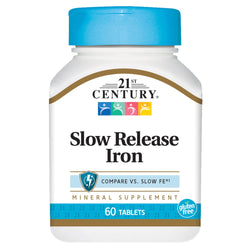21st Century Slow Release Iron, 60 Tablets