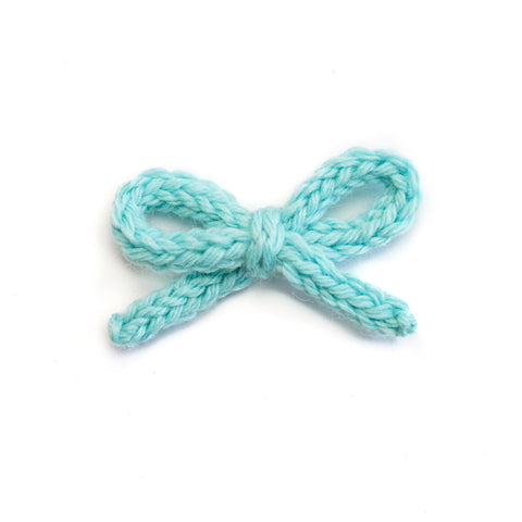 Hand-tied Crochet Bow - Ivy Teal
