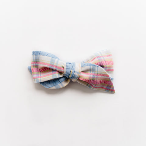 *Surprise Listing * Laurel - Vintage Plaid Seersucker Bow