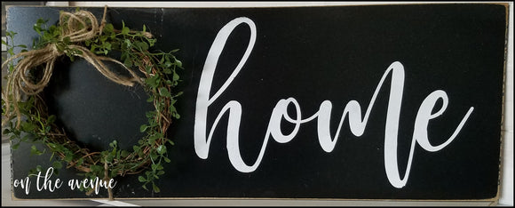 Rustic HOME Farmhouse Sign