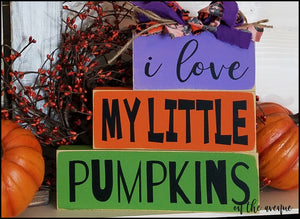 I Love My Little Pumpkins - Block Set