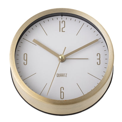 Table Clock Wecker in Gold