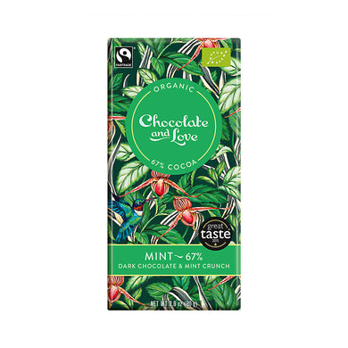 Chocolate and Love »Mint« 80g Tafel