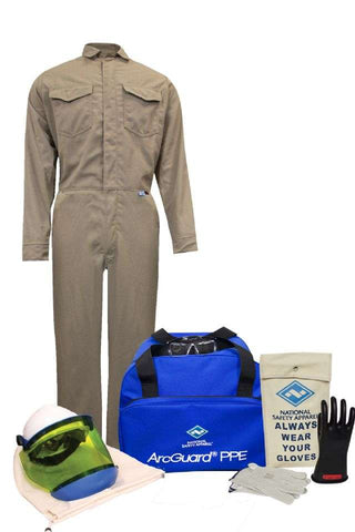 NSA ArcGuard® Arc Flash Kit with FR Coveralls, No Gloves (KIT2CVPR08)
