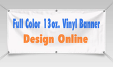 Vinyl Banner 4'x 4' Custom with your design text