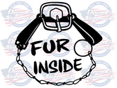 Fur Inside Trapper vinyl trapping decal sticker car truck suv window
