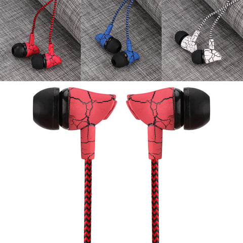 3.5mm Nylon Braided Headphones With Microphone