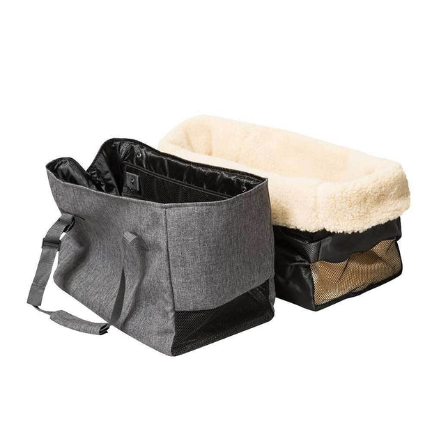 Year-Round Dog Carrier with Removable Fleece in Dark Gray - This Dog's Life