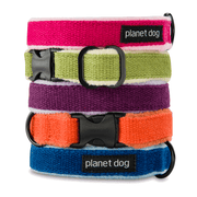Natural, Eco-Friendly Hemp Collar in Pink Raspberry - This Dog's Life