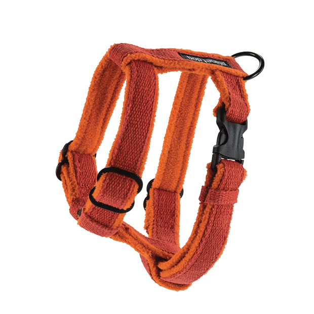 Natural, Eco-Friendly Hemp Harness in Tangerine - This Dog's Life