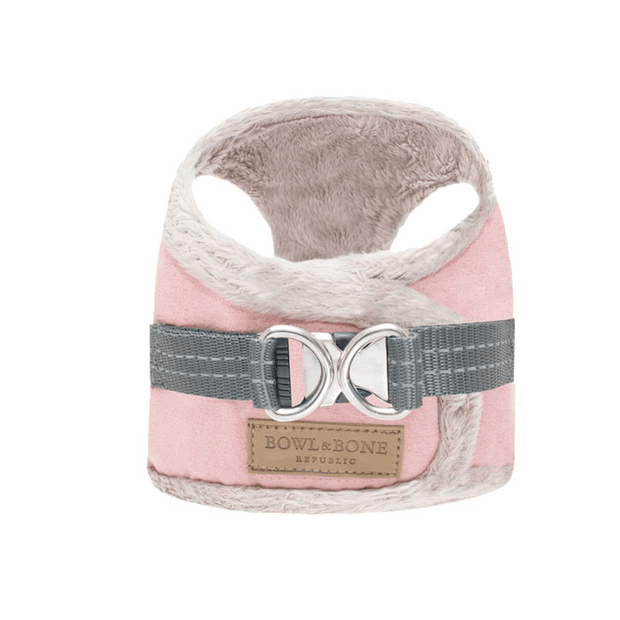 Faux-Fur Lined Cozy Harness in Rose - This Dog's Life