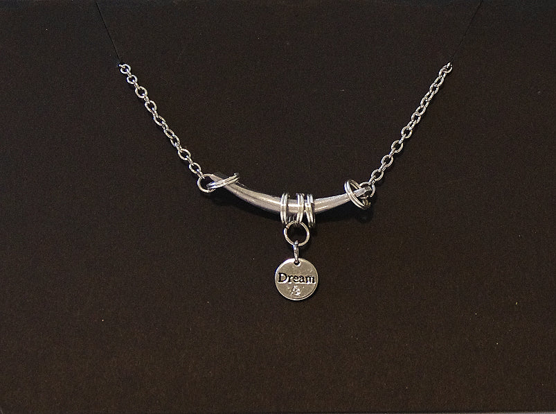 Bar & Charm Necklace - Dream