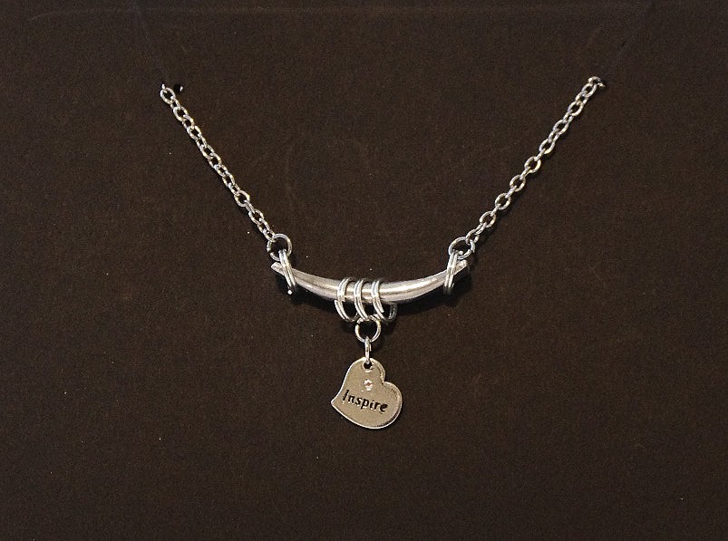 Bar & Charm Necklace - Inspire