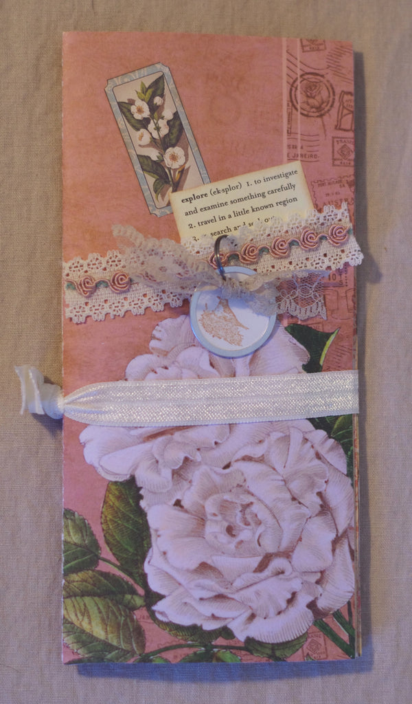Handcrafted Note Book - Peony