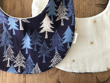 Bib Winter Forest / Ivory with Golden Stars - Happy Poppets