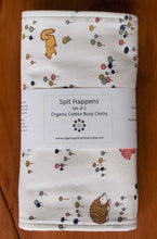 Burp Cloths Organic Cotton Burp Cloths in Meadow Run (Set of 2) - Happy Poppets