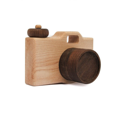 Wooden Toy Camera Wood Toy - Happy Poppets