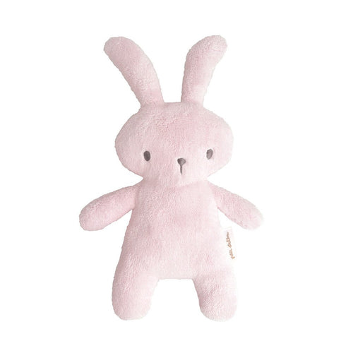 Soft Toy Bunny Rattle in Pink - Happy Poppets