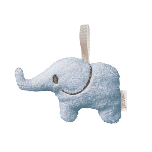Soft Toy Mini Rattle Elephant in Blue - Happy Poppets