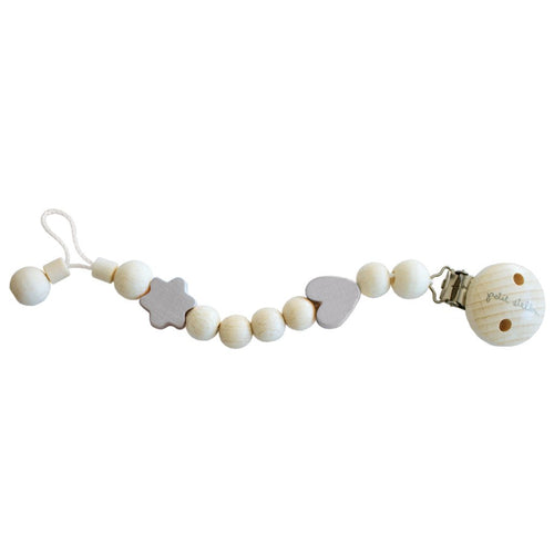 Pacifier Clip Pacifier Holder - Beige - Happy Poppets