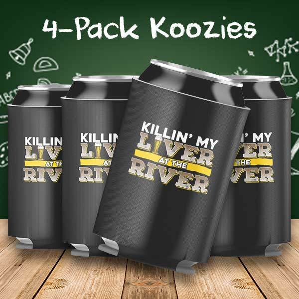 Killing my Liver at the River 4-Pack Can Coolers