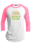 This Mummy is Expecting a Little Monster Halloween Raglan