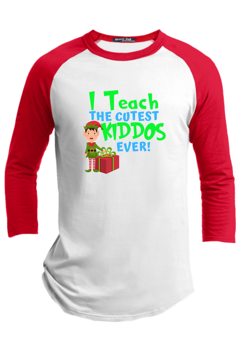 I Teach the Cutest Kiddos Ever Christmas Raglan