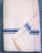 White Organic Cotton Handwoven Towel Blanket | Olive & Iris