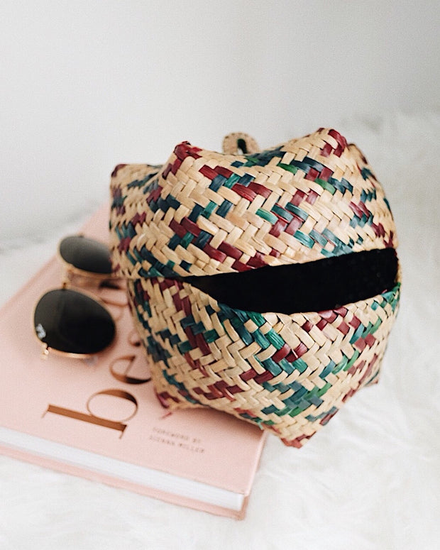 Small Woven Okra Storage Basket - Olive & Iris