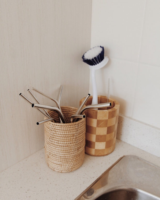 Thyme Rattan Utensil Holder