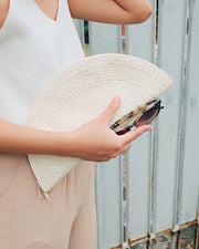 Hand woven seagrass clutch, beach bag, straw bag, summer bag - Olive and Iris