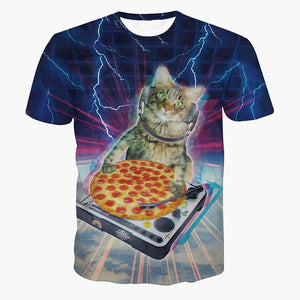 DJ Pizza Cat T-Shirt