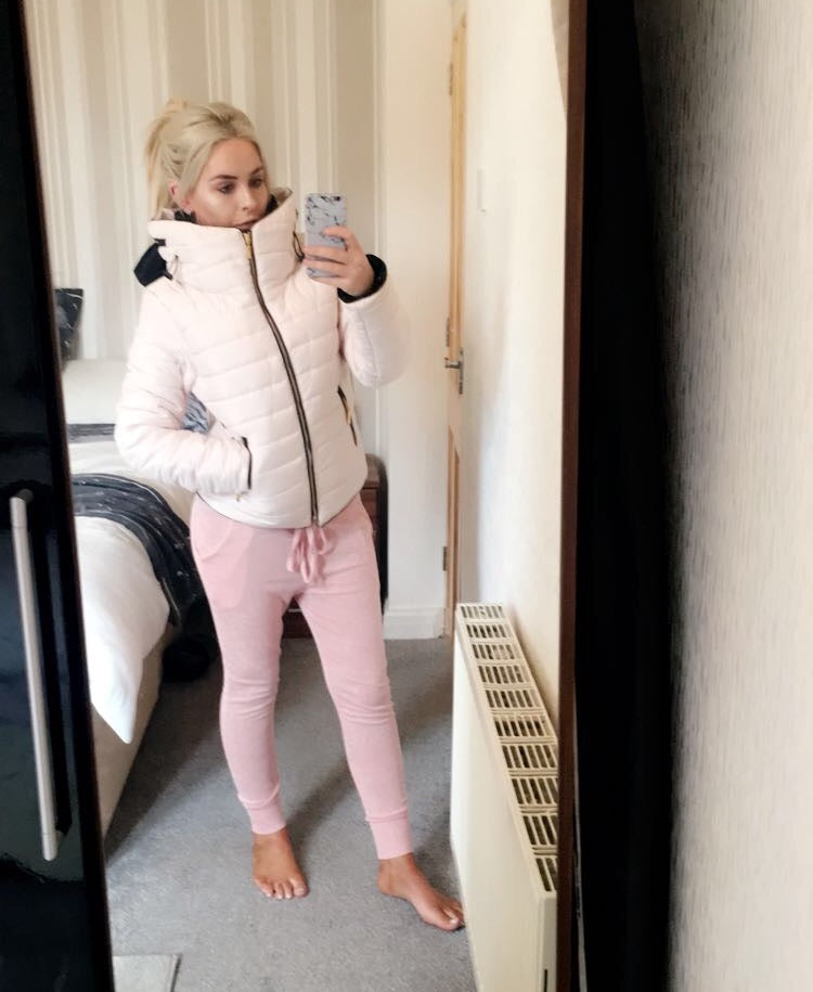 Heaven - Rose Pink Quilted Puffa Jacket