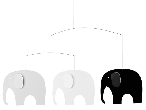 Flensted Elephant Party Black/Grey Mobile