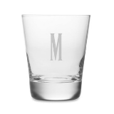 Monogrammed Double Old Fashioned Glassware