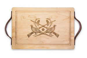 Maple Leaf- Rectangular Cutting Board with Handles
