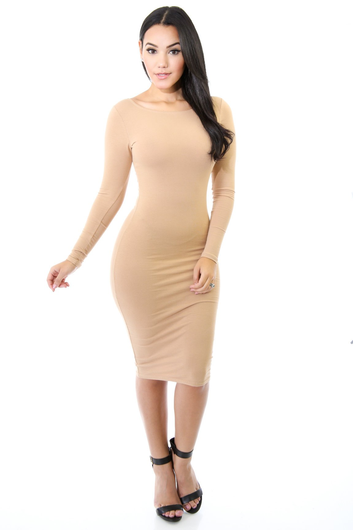 Midi Bodycon Stretch Dress