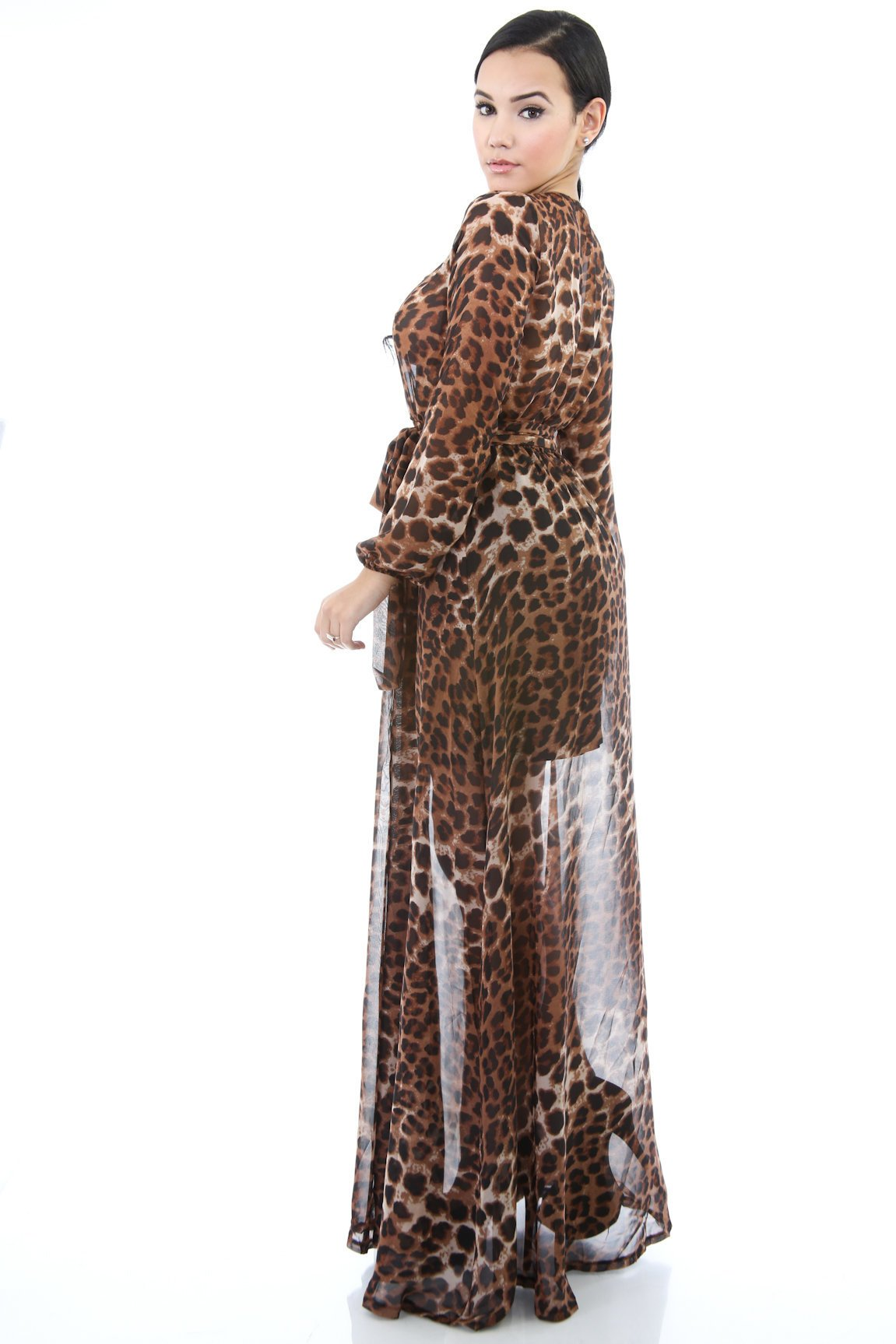 Leopard Beauty Maxi Dress