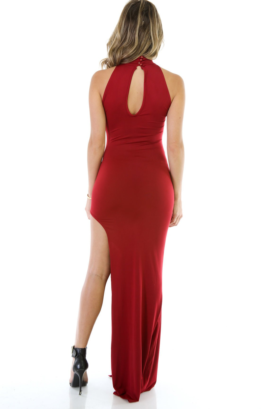 Define Curves Ruched Maxi Dress