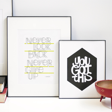 Never Give Up / Haim Print