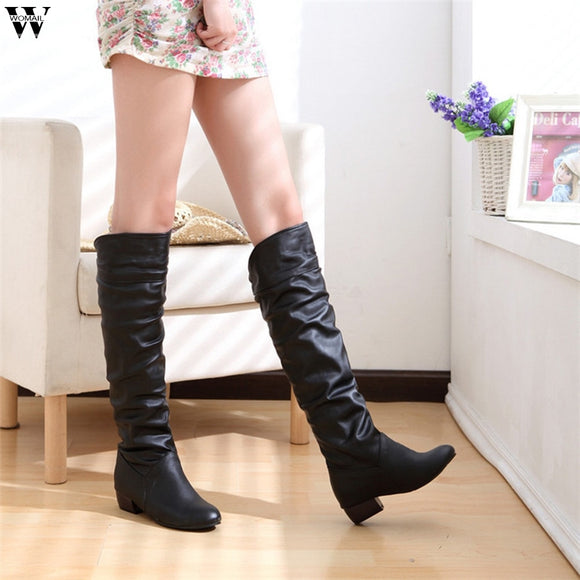 Sexy Over The Knee High Suede Women Snow Boots Women's Fashion Winter Thigh High Boots