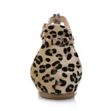 Leopard Print Flat Heel Women's Summer Fashion Sandals
