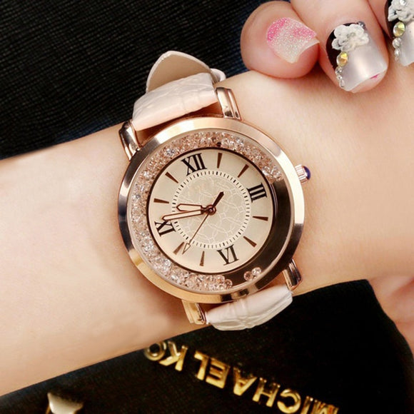 New ladies watch Leather Bracelet Wristwatch Analog Quartz